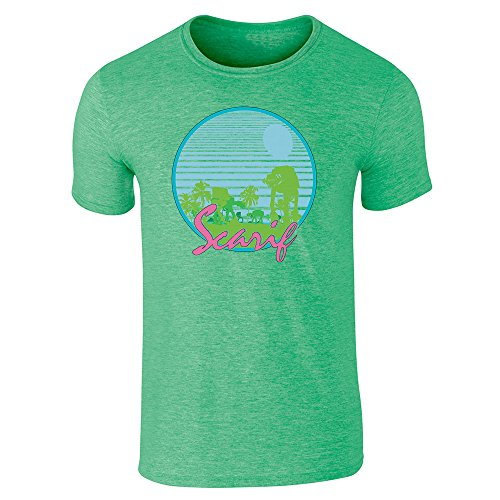 Pop Threads -  T-shirt - Uomo Heather Irish Green
