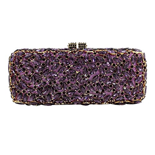 Mode Für Frauen Diamantabendtasche High-End-Diamanten Bankett Tasche Handtasche Purple
