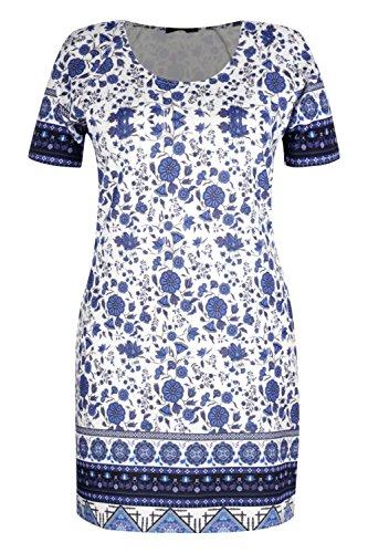 Damen Blau Plus Orla Etuikleid Mit Blumen-print Blau