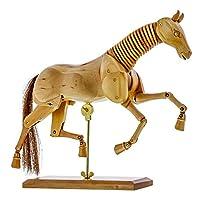 "US Art Supply« Wooden Horse Artist Drawing Manikin Articulated Mannequin (8"" Horse)"