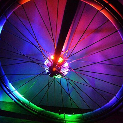 LED-Lichter für Fahrradspeichen von West Biking, supercooles Fahrradzubehör, lustiges Geschenk für Jungen, Mädchen und Erwachsene, Kinder Herren damen, mehrfarbig