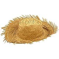 Islander Fashion Mens Male Straw Beachcomber Hat Gents Hawaiian Fancy Curl Up Edges Hat Accessory
