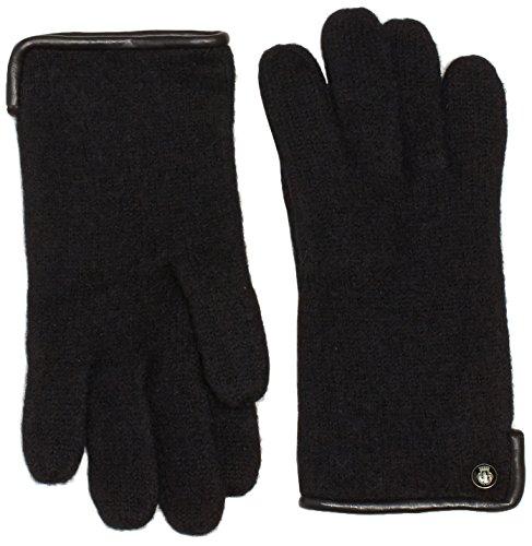 Roeckl Damen Handschuhe Klassischer Walkhandschuh 21013-101, Gr. 7, Schwarz (Black 000)