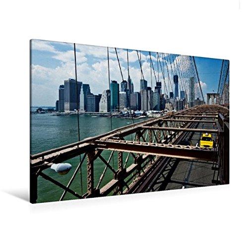 til-Leinwand 120 cm x 80 cm quer, NYC Manhattan Skyline | Wandbild, Bild auf Keilrahmen, Fertigbild auf echter Leinwand, Leinwanddruck: Sicht von der Brooklyn Bridge Orte Orte ()