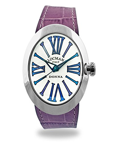 Locman Italy reloj mujer Donna Plata/lila Ref. 041000