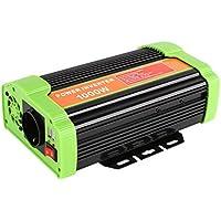 MVPOWER 300W/600W/1000W Auto Spannungswandler Wechselrichter DC 12V auf 220V Power Inverter mit 2 USB Anschlüsse aus Aluminium Schwarz (1000W, 12-220V)