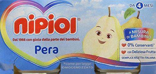 Nipiol Omogeneizzato Frutta Pera 24 Vasetti da 80 gr