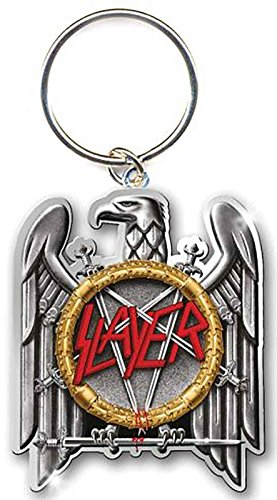 Slayer Schlüsselring Classic Eagle Band Logo offiziell Nue Silber Metal Keychain (Metall-anarchie-symbol)