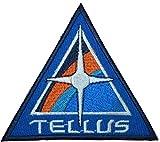 Raum über und Beyond Tellus Rollkiste Logo Wappen bestickt Badge Patch 8,9cm Nähen oder zum Aufbügeln