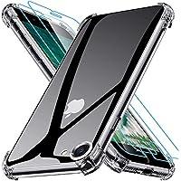 Joyguard Funda Compatible con iPhone SE 2020 con 2 Protector de Pantalla, Funda para iPhone 8 Funda para iPhone 7 Funda para iPhone SE 2020 - 4.7 Pulgada Transparente