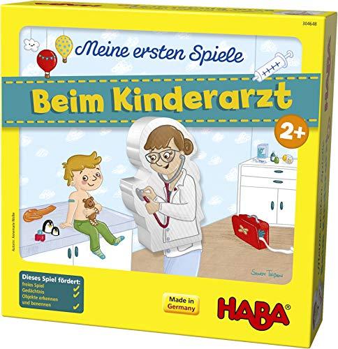 HABA 304648 - Meine ersten Spiele - Beim Kinderarzt, Lern- und Memospiel für 1-4 Spieler ab 2 Jahren, bereitet spielerisch auf den Artzbesuch vor