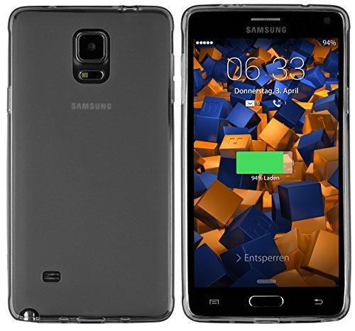 mumbi TPU Schutzhülle für Samsung Galaxy Note 4 Hülle transparent schwarz