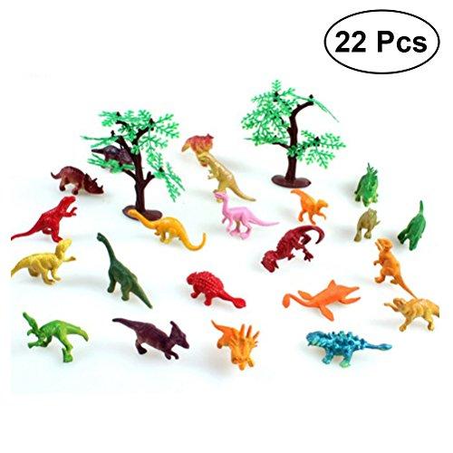 TOYMYTOY 24 Stücke Mini-Dinosaurier-Set Welt Dinosaurier Kunststoff Sortiert Spielzeug Kindergeburtstag Party Dekoration