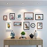 HJKY Photo Frame Wall Set El sofá en el salón pinturas murales del estilo nórdico pintura mural pintura mural combinada American restaurante moderno y minimalista, murales de 2-4 m de 25 mm de espesor de pared, en blanco y negro, combinación de Hu