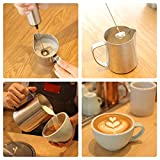 from Sedhoom Electric Milk Frother Handheld Double Spring Whisk Head Powerful Electric Foam Maker with Additional Single Spring Whisk Head