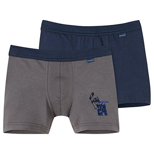 Schiesser Jungen Boxershorts 2Pack Shorts 2er Pack, Mehrfarbig (Sortiert 1 901), 140