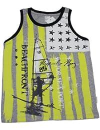 Stummer Jungen Trägershirt T-Shirt light gray melange