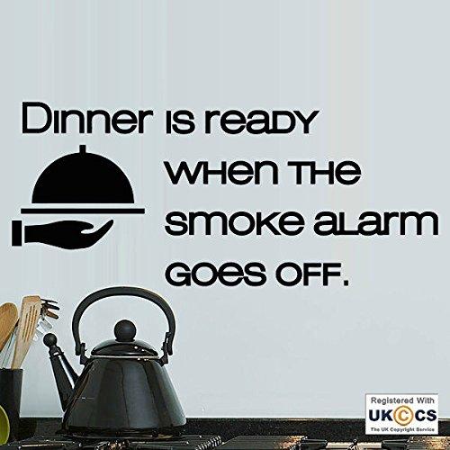 Abendessen Bereit Rauchmelder Küche Lustige Lebensmittel-Wand-Kunst-Aufkleber-Abziehbilder Vinyl...