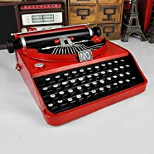 FLB Vintage máquina de Escribir Retro máquina de Hacer Adornos Modelo, Sala de Estar Creativa