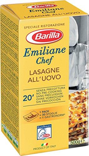 Barilla Emiliane Chef Lasagne all' Uovo, 6er Pack (6 x 500 g)