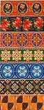Ukrainisches-Kunsthandwerk, Ostereier Schrumpffolie. Semizvet. Blaue Stern. Nr. 39 reicht für 7 Eier