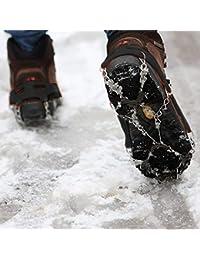 Fenghezhanouzhou Sujetador de Hielo Antideslizante Senderismo Cadena de  Escalada Zapatos Cubre 8 Dientes Un par ( a0a2c5163e307