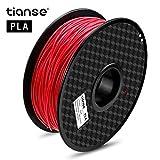 TIANSE Rot 3D Drucker Filament pla 1,75 mm 1 kg, Dimensionsgenauigkeit +/- 0,03 mm MEHRWEG