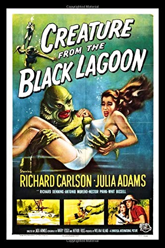 Creature From The Black Lagoon Retro Movie Poster Journal: Vintage Horror Movie Notebook (Classic Horror Movie Poster)