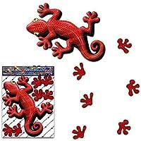 Rot Gecko Tier Aufkleber für Auto LKW Wohnwagen - ST00031RD_SML - JAS Aufkleber