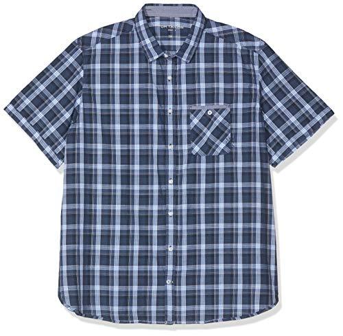 TOM TAILOR Herren 1012246 Freizeithemd, Blau (Blue Shade Check 15858), XXX-Large (Herstellergröße: XXXL)