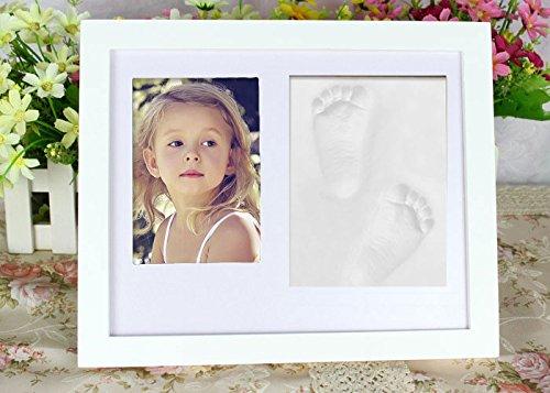 Somore Cornice Foto Impronta di Mani e Piedi per Bambino Neonato- Bianco...