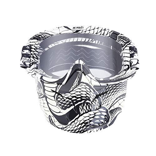 Sport Brille Herren Motocross Spiegel Spiegel Retro Schutzbrillen Maskenbrillen Helm Winddichte Brillen Transparent A04 Damen Herren