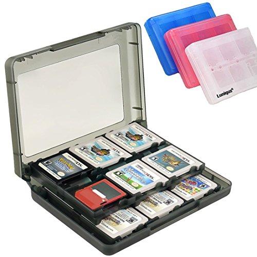Luniquz 26-in-1 Spiel Kartenspeicher Aufbewahrungskoffer Organizer Halter für Nintendo 3DS, 3DS LL, DS, DSi XL, DS Lite, 2DS, NDS - Schwarz