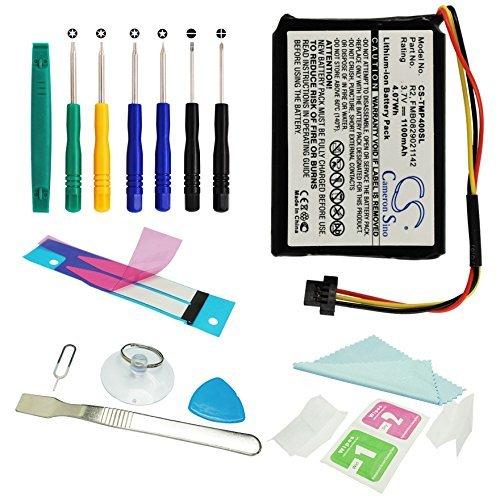 Batterie Li-ion de 1100 mAh CS-Pour GPS-Compatible avec Tomtom XXL et One XL 4EG0.001.17-Remplace la batterie Tomtom 6027A0090721 et 6027A0093901-Jeu d'outils inclus