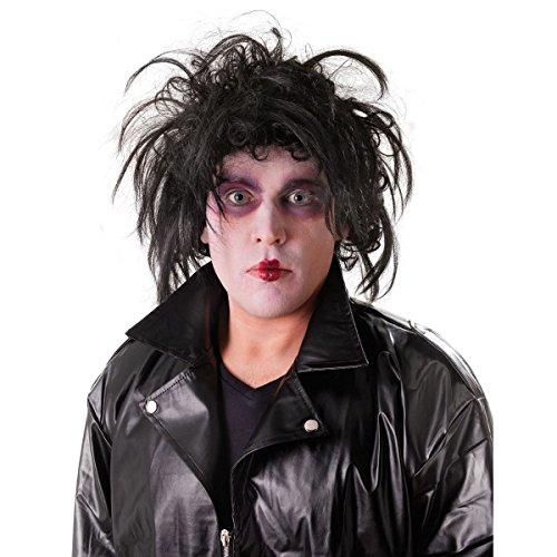 Edward Accessory Fancy Dress (Perücke Spikey Schwarze)