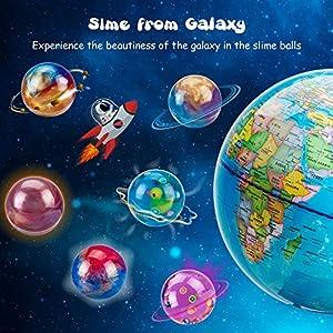 Joyjoz Galaxy Slime Kit de 24 Paquetes de Gelatina Pegajosa de Masilla Suave Elástica Metálica - para Fiestas de Niños y Adultos de Joyjoz