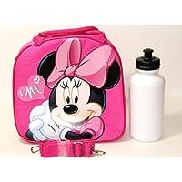 Disney Licensed: Lunch Bag for Kids Girls with Water Bottle & Adjustable Shoulder Strap (Pink MinnieHouse) by Disney preisvergleich bei kinderzimmerdekopreise.eu