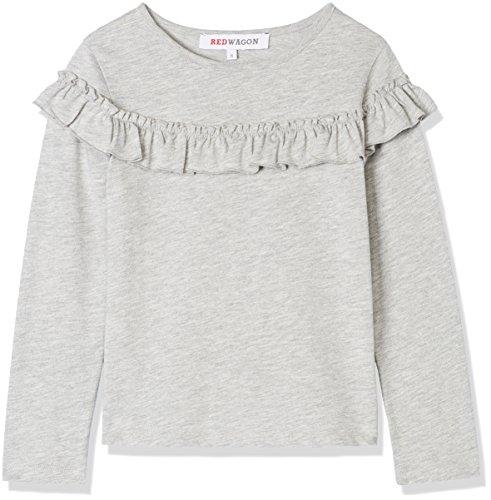 RED WAGON Mädchen Sweatshirt mit Rüschen, Grau, 116 (Herstellergröße: 6 Jahre) (Pullover Kleidung)