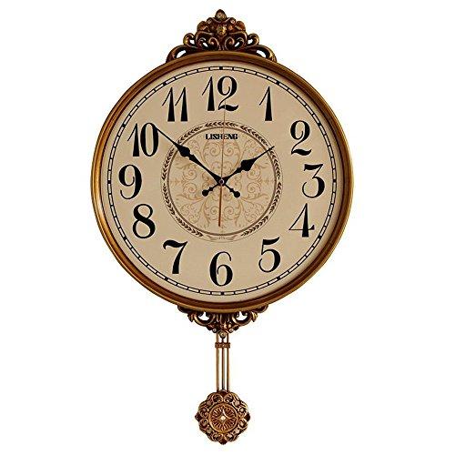 Klassische Wanduhr Mit Pendel Pendeluhr, Antike Vintage Dekorative Wanduhr Quarzwerk Wobble Clock Klassische Vintage Schlafzimmer Salon Küche Wanddekoration (2 AA-Batterien)