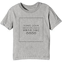 Erido Yung Lean Unknown Death 2002 Niños Unisexo Niño Niña Camiseta Cuello Redondo Gris Manga Corta