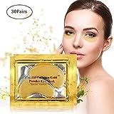 GARYOB 30 Paar Golden Augenpads Augen Maske Anti Wrinkle Bags Ageing Pad Moisturiser mit Hyaluronsäure und Collagen gegen Augenringe und Fältchen