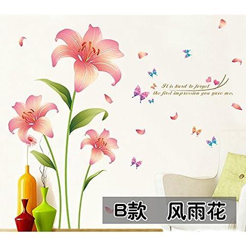 Impermeable no tóxico 4 hojas, cálida pared B (150*120cm)