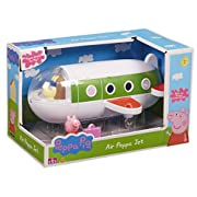 It's up, up and away with Peppa Pig in her amazing aeroplane! Open up plane and load on the luggage so you're ready for your holiday. Miss Rabbit's the pilot but you can flip her over if you want to make Peppa in charge of the cockpit! This j...