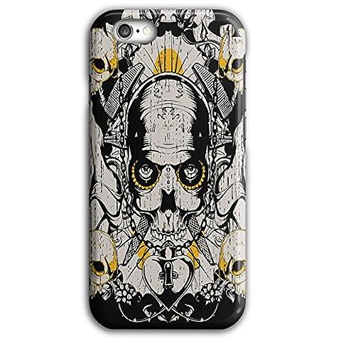 Armée Décès Guerre coold Crâne Médaillon Luxure 3D iPhone 6 Plus / 6S PlusÉtui Pour | Wellcoda