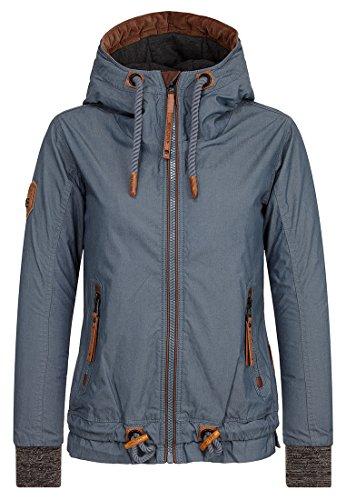 Naketano Female Jacket Halbes Stündchen ins Mündchen Steel, XL