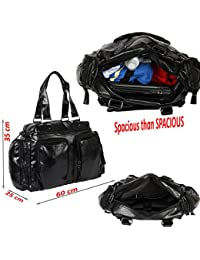 23ee26da8137 XENSA® Genuine LEATHERite Stylish Large Travel Tote Oversized DUFFLE Luggage  Bag 65 LTR-