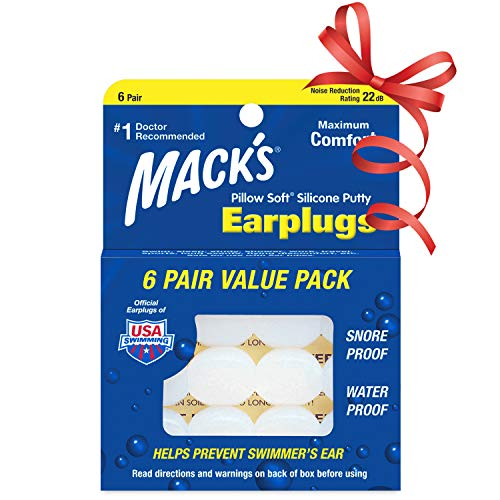 Mack\'s Pillow Soft Silikon-Ohrstöpsel, 6Paar
