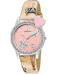 LimeStone Pink Dial Analogue Watch For Women's & Girl's - (LS1328)