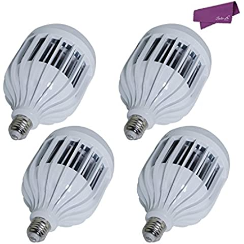 SalesLa 36W E27 LED bulbo del globo de la bola de golf Luz punto de la lámpara (4pcs blancos)