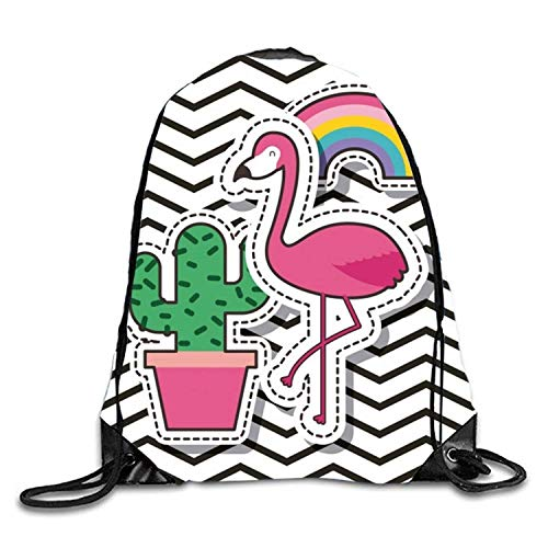 Naiyin 3D Print Drawstring Backpack Rucksack Shoulder Bags Gym Bag Lightweight Travel Backpack Black and Gold Cute patches2 Black Velvet Sheer